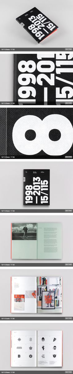 15/115 – 15 Years, 115 Projects Book by Mash Creative, via Behance