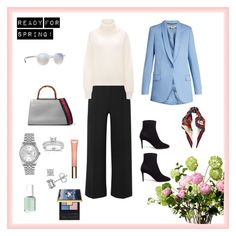 """""""Ready for spring!"""" by malinandersson on Polyvore featuring Veronica Beard, STELLA McCARTNEY, Gucci, Jimmy Choo, Ray-Ban, Annello, Rolex, LSA International, Clarins and Essie"""
