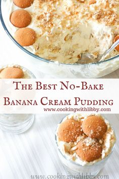 This recipe for easy No Bake Banana Cream Pudding frees up space in your oven so you can concentrate on producing other dishes for your next event. bake Desserts No Bake Banana Cream Pudding No Bake Banana Pudding, Banana Pudding Desserts, Southern Banana Pudding, Homemade Banana Pudding, Köstliche Desserts, Banana Pudding Recipe With Cream Cheese, Healthy Banana Pudding, Vanilla Pudding Recipes, Banana Cream Desserts