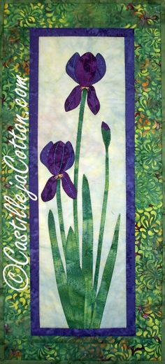 Iris Quilted Wall Hanging by castillejacotton on Etsy, $49.00
