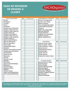 CHECKLIST REGRESO A CLASES