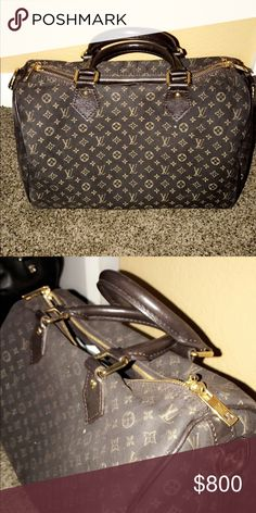 Authentic Louis Vuitton Bag Gorgeous black and gold Louis Vuitton bag worn but in decent condition Louis Vuitton Bags Shoulder Bags