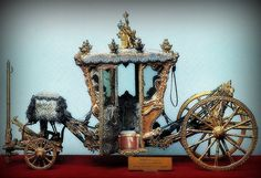 Carriage used by King Louis XIV and Marie Antoinette on their wedding day, Versailles France