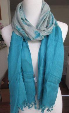 New AUTHENTIC Chan Luu Tie Dye Scarf Scuba Blue Combo  #ChanLuu #Scarf #ChanLuuScarf #TieDye #TieDyeScarf #ChanLuuTieDyeScarf #BlueTieDye #BlueScarf