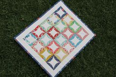DS Quilts Doll Quilt simple design. great colors