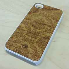 Damask Light on White Wood iPhone Case, Hybrid Case by Keyway Designs