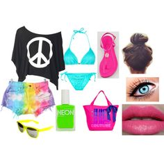 The ultimate summer outfit!!!! #beach #colors #love
