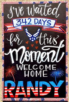 military welcome home chalkboard homecoming sign welcome home
