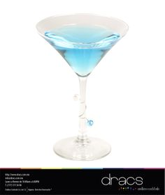#Cocktails #Cocteles #StylishStems #Blue #Martini