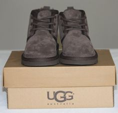 New w Box Authentic Boys Ugg Australia Neumel Boots US10M Chocolate Brown!