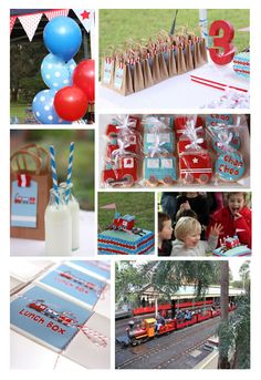Sambellina's Party - Simple, Stylish Partyware and Stationery: CHRISTIAN'S TRAIN PARTY