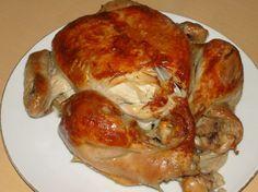 Fotorecept: Pečené kura s cibuľou a klinčekmi