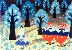 Alice in Wonderland Meet the Tweedles Disney Mary Blair