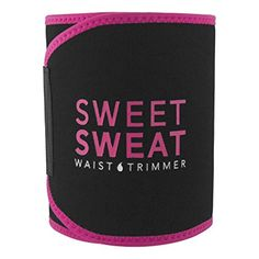 Sweet Sweat Premium Waist Trimmer (Pink logo) for Men & Women. Includes Free Sample of Sweet Sweat Workout Enhancer! Size: Small  Price:$20.95 - $29.50