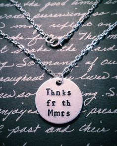 Fall Out Boy Thnks Fr Th Mmrs Necklace by YellowHippoDesigns