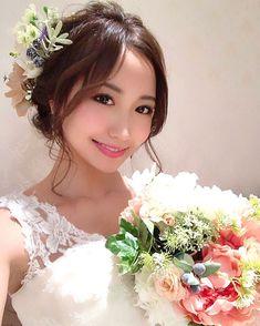画像に含まれている可能性があるもの:1人、結婚式、花 Pics For Dp, Cute Faces, Asian Woman, Asian Beauty, Dress Up, Hair Beauty, Flower Girl Dresses, Kawaii, Bride