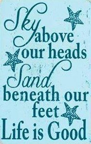 Beach quote via Carol's Country Sunshine on Facebook
