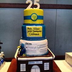 This cake was made for the Multi-Ethnic Career Conference at The University of Delaware by Dana Herbert, winner of TLC's Next Great Baker.
