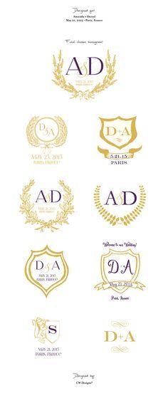 Custom Crest Wedding Monogram by cwdesigns2010 on Etsy cws-designs.com themapchick.com