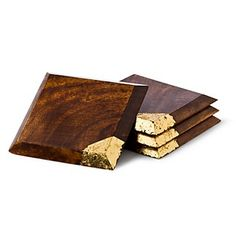 DvF Gold Leaf Wooden Coasters