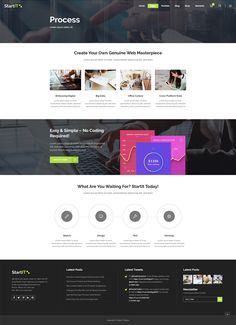 Introduce your business in a modern manner with Startit WordPress theme. Layout Template, Templates, Types Of Technology, App Landing Page, Create Your Website, Building A Website, Start Up Business, Manners, Lorem Ipsum
