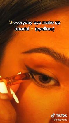 Edgy Makeup, Makeup Eye Looks, Cute Makeup, Eyeliner Looks, Simple Makeup, Skin Makeup, Natural Makeup, Makeup Tutorial Eyeliner, Makeup Looks Tutorial