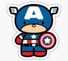 Capitão América Cute Hello Kitty