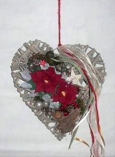 Weihnachtsdeko - weihnachtliches Dekoherz - ein Designerstück von Deko-Huette bei DaWanda