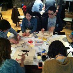 "GSJ Seoul 2012. day 2. 1st event. ""make jammer's Eco-bag"""