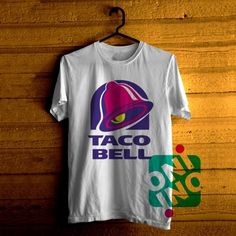 Low price only $16.00 ,Taco Bell Logo Tshirt For Men / Women Shirt Color Tees