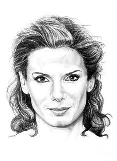 Sandra Bullock by Murphy Elliott ~ traditional pencil art