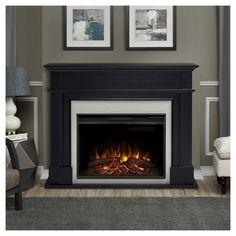Real Flame - Harlan Decorative Fireplace - Black
