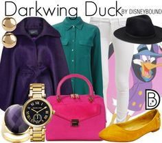 An outfit inspired by your childhood afternoon cartoons. Darwing Duck outfit | Disney Fashion | Disney Fashion Outfits | Disney Outfits | Disney Outfits Ideas | Disneybound Outfits |