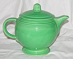 Green Fiesta Tea Pot