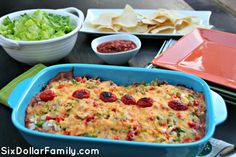 Love tacos but tired of the same old way? This EASY Taco Bake Casserole is your answer! Comes together in just a few minutes and way more budget friendly than regular tacos!