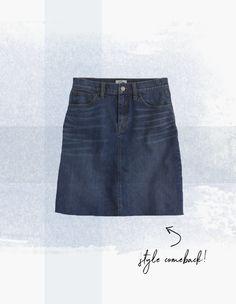 Denim skirt // J.Crew, $70