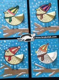 Winter bird crafts for kids art projects ideas Christmas Activities For Kids, Winter Crafts For Kids, Craft Activities For Kids, Winter Fun, Art For Kids, Craft Ideas, Kids Math, Winter Snow, Unicorn Crafts