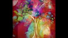 alcohol ink on metal - YouTube