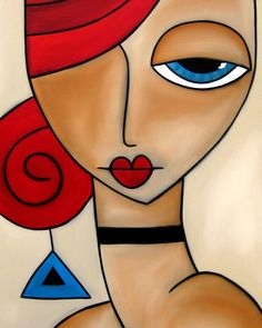 Ideas for painting abstract acrylic diy canvas ideas Abstract Face Art, Painting Abstract, Cubist Art, Indian Art Paintings, Modern Art Paintings, Arte Pop, Fabric Painting, Diy Painting, Whimsical Art