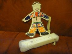 Spring Break - Flat Stanley wanted some Wii time.