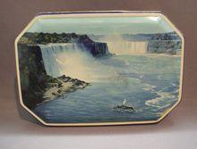 Riley's Toffee Niagara Falls Scene Tin Blue