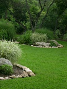 Landscaping Pictures Of Texas Xeriscape Gardens. This is what Id like to do to my grass - introduce islands of drought resistant plants. Landscaping With Rocks, Front Yard Landscaping, Backyard Landscaping, Landscaping Ideas, Landscaping Software, Inexpensive Landscaping, Backyard Trees, Mulch Ideas, Large Backyard