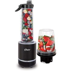 Oster Blend Active 2-in-1 Personal Blender with Food Chopper - Black/Stainless Steel