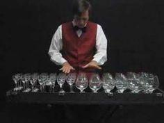 Glass music: Dance of the sugar plum fairy