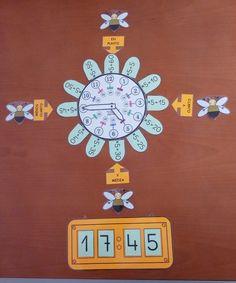 """Una nueva versión inspirada en el""""reloj de flor analógico y digital"""" deLucía García Martínez que en esta ocasión nos comparteJuan Pablo Olivares desde Algeciras y que también ha dejado en elFacebook ABN. En esta versiónnos comenta que hamodificando algunos detalles, como escribir los pétalos y los carteles de en punto …"""