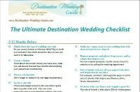 This is the ultimate destination wedding checklist.  Everything you need to plan a stress free wedding away from home.