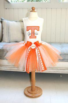 University of Tennessee Tutu Set - Adorable! Tennessee Volunteers Football, Ut Football, Tennessee Football, Football Outfits, Tennesse Volunteers, Vol Nation, Tn Vols, Tennessee Girls, University Of Tennessee