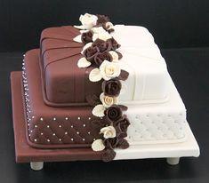 Violet Wedding Cakes, Bling Wedding Cakes, Square Wedding Cakes, Wedding Cake Designs, Purple Wedding, Gold Wedding, Beautiful Cake Designs, Beautiful Cakes, Cake Designs For Kids