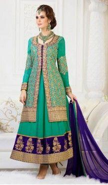 Ravishing Greenish Blue Designer Suits