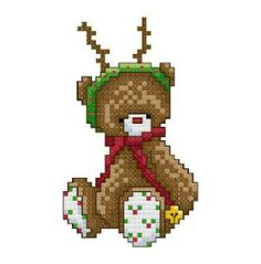 Christmas Bear Cross Stitch Pattern Pattern